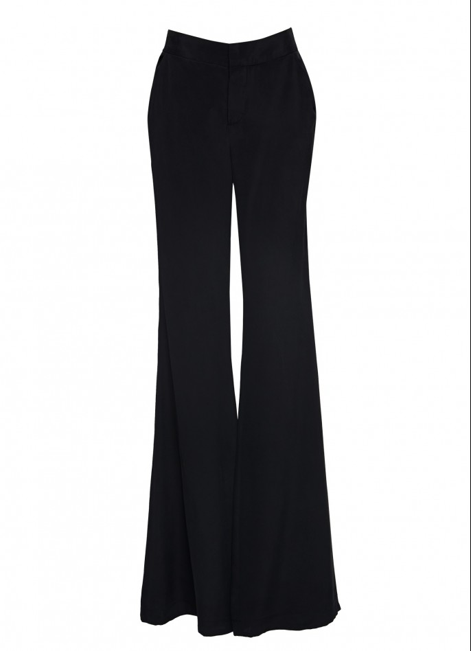 WIDE-LEG SILK PANTS