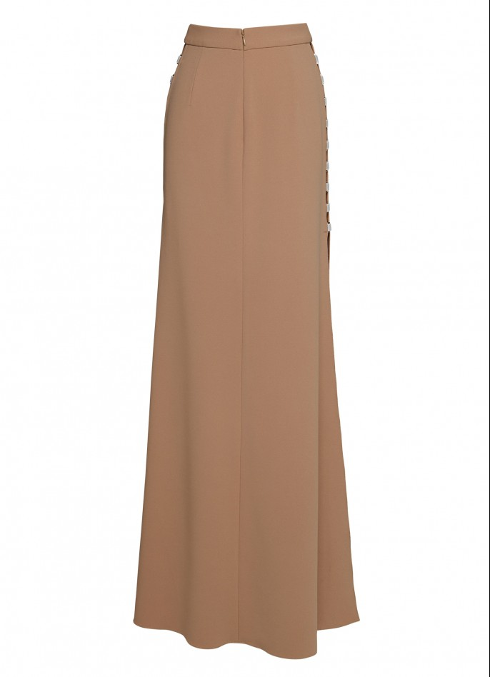 STRETCH-CREPE MAXI SKIRT