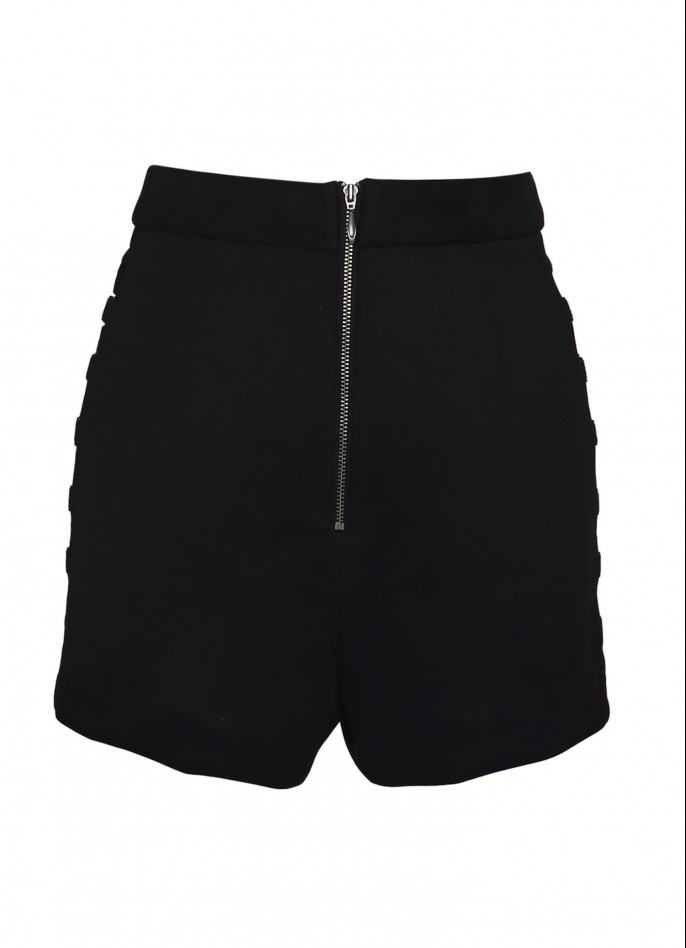CUTOUT ULTRASUEDE SHORTS
