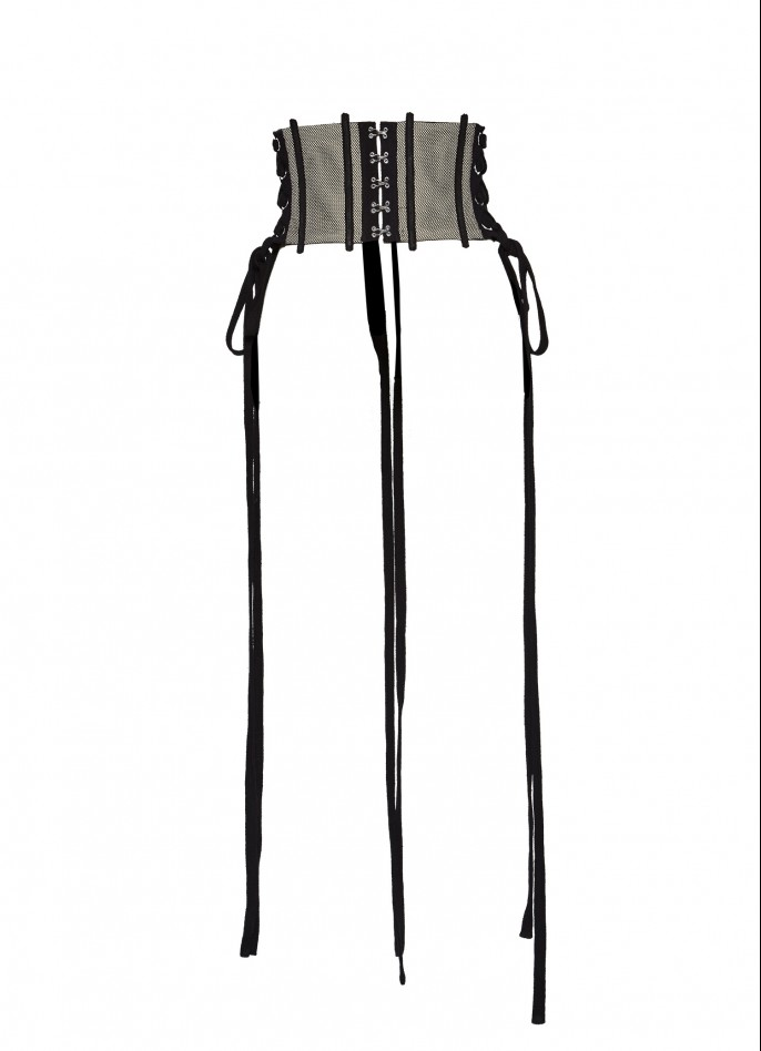 BLACK LACE-UP CORSET