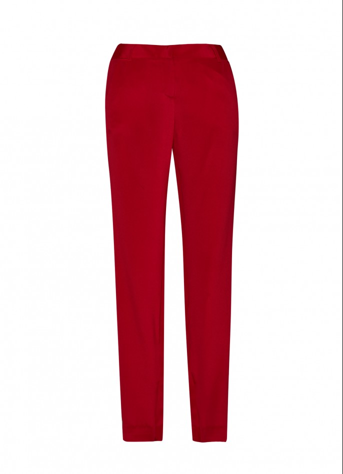 SILK SLIM-LEG PANTS