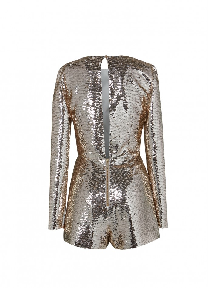 GOLD SEQUIN PLAYSUIT