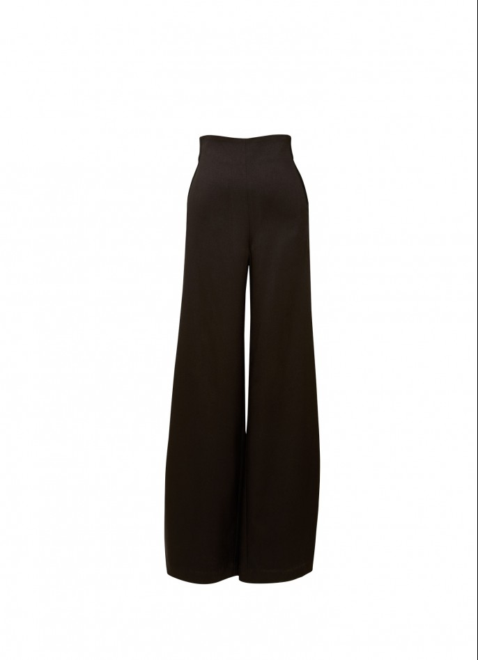 HIGH WAISTED WIDE-LEG PANTS
