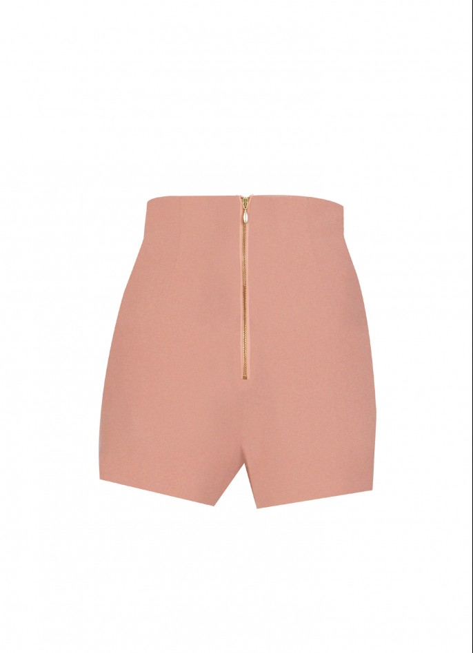 EMBELLISHED STRETCH CREPE SHORTS