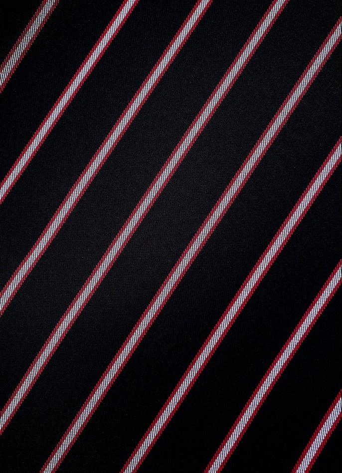 BLACK / RED PINSTRIPE SHORTS
