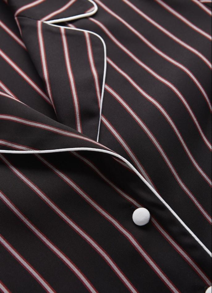 BLACK / RED PINSTRIPE SHIRT