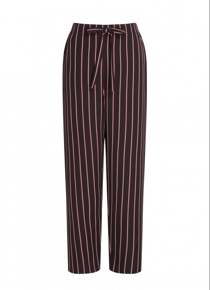 BLACK / RED PINSTRIPE PANTS