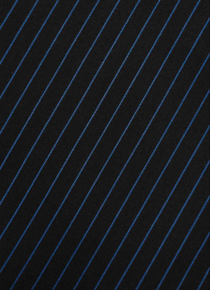 NAVY BLUE PINSTRIPE SHORTS