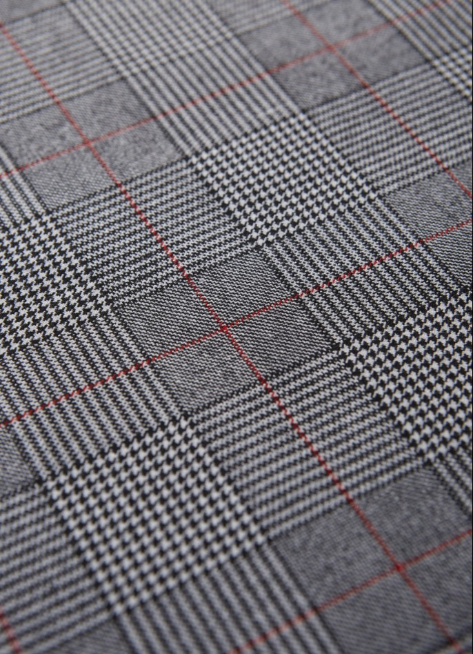 GREY CHECKED JUMPSUIT