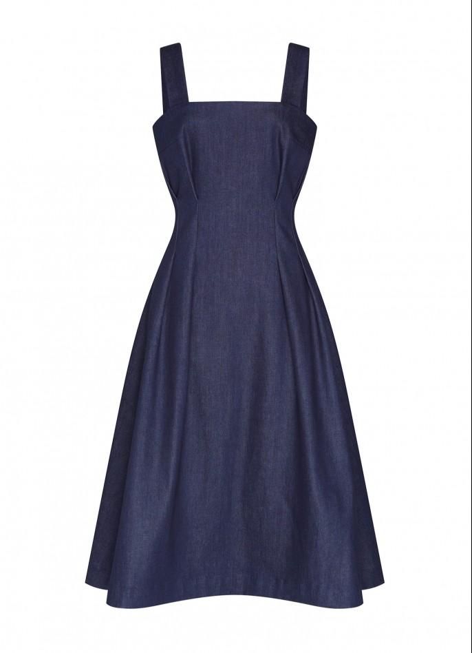 DARK BLUE DENIM DRESS