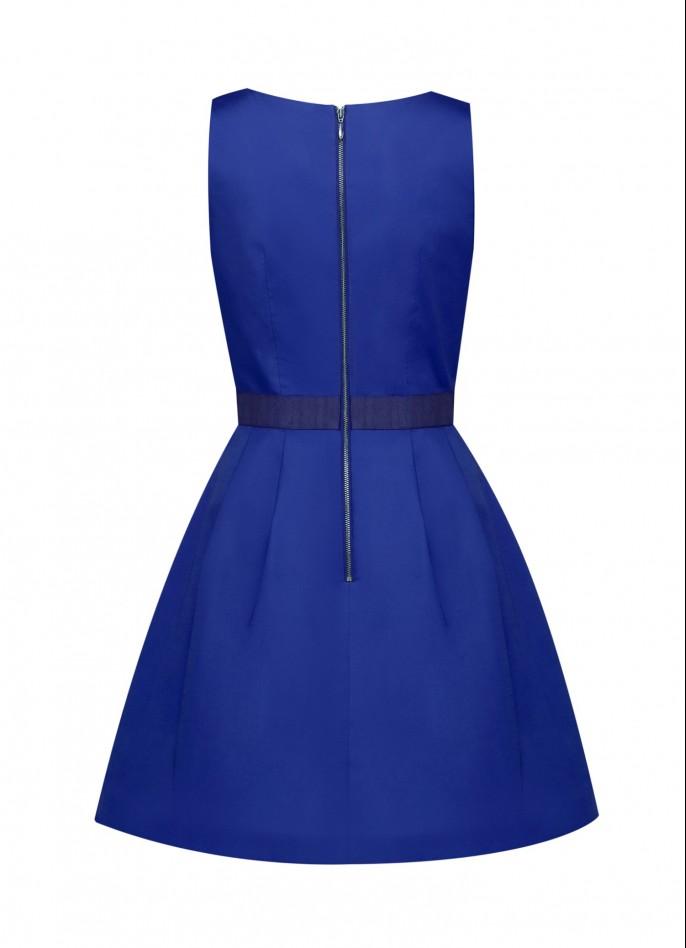 INDIGO BLUE COTTON POPLIN DRESS